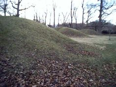 Indian burial mounds in Central Park