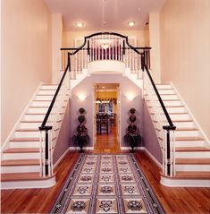 Double staircases and view to back Allows for great lighting