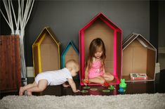 a clever take on the diy cardboard house