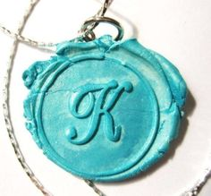HOT NEW JEWELRY TREND - Monogram Wax Seal Pendant - Any Letter