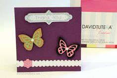 1-2-3 Simple Steps to Beautiful Handmade Cards from Core'dinations & David Tutera. Love this creation from @Heidi Kundin {Mom's Crafty Space}