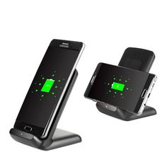 3 Coils Qi Wireless Fast Charger Charging Stand Dock Holder For Samsung S8 Galaxy Lumia