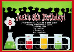 ... - Mad Scientist Party Invitations