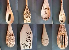 wood burned spoons - Google Search