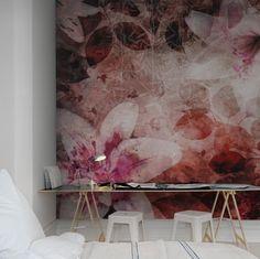 #wallpaper - Garden of Dreams, red - rebelwalls.com
