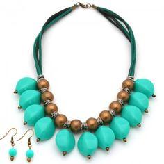 Collar Amazonas | Dulce Encanto accesorios para mujer  Compra tus accesorios desde la comodidad de tu casa u oficina en www.dulceencanto.com #accesorios #accessories #aretes #earrings #collares #necklaces #pulseras #bracelets #bolsos #bags #bisuteria #jewelry #medellin #colombia #moda #fashion