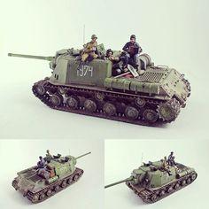 ISU122 1/35. Modeler Marian Bunc #scalemodel #plastimodelismo #hobby #tank_destroyer #caça_tanque