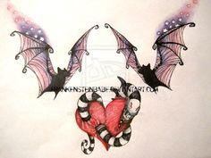 Tim Burton inspired tattoos by FrankensteinBabe on deviantART