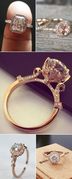 gorgeous rose gold wedding engagement rings