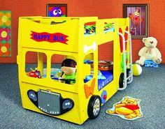Kinderbett junge bus  Blauer Bus als Kinderbett.   besondere Kinderbetten   Pinterest