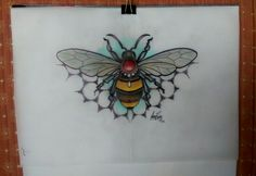 Neo Traditional bee tattoo design by Amy Rose - Australia