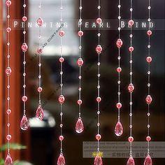 De alta calidad-- polvo de vidrio simulado- cortina de perlas de cristal producto terminado cristal cordón de cortina cortinas