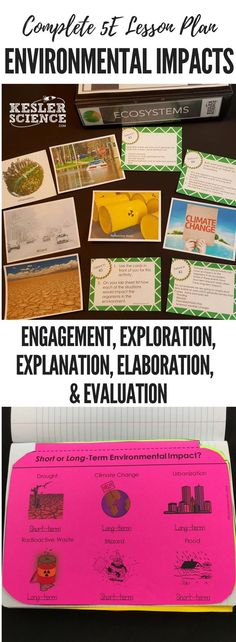 Short and Long-Term Environmental Impacts Lesson Plan ready to print and teach the entire ecosystems unit. Includes word wall of vocabulary, interactive science notebook template, PowerPoint and note worksheet, and student choice final project. Science Lessons, Science Resources, Teaching Biology, Biology Teacher, Earth And Space Science, Science Notebooks, Middle School Science, Science Classroom, Teaching Strategies