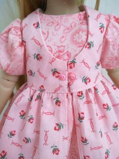 Doll Dress Patterns, Clothing Patterns, Red Fashion, Fashion Dolls, Pinafore Pattern, Types Of Skirts, American Girl, American Dolls, Dress Out