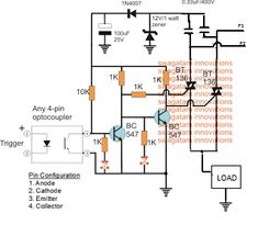 Solid-State Inverter/Mains AC Changeover Circuits Using Triacs Circuit Projects, Circuit Diagram, Electronics Projects, Maine, Floor Plans, Homemade, Circuits, Diy, Home Made