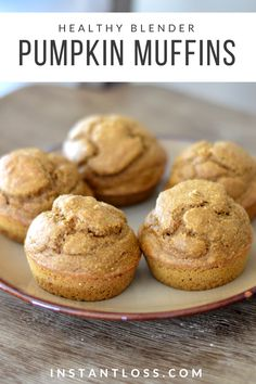 Gluten Free Pumpkin Blender Muffins - Instant Loss - Conveniently Cook Your Way To Weight Loss Donut Muffins, Protein Muffins, Zucchini Muffins, Healthy Muffins, Cranberry Muffins, Muffins Blueberry, Morning Glory Muffins, Blender Recipes, Diet Recipes