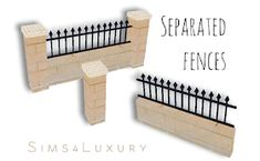 Separated fences Hello everyone ! I worked almost all day long creating new fences for our townhouses in the Sims There is 3 new meshes offering an easy way to build with separeted parts of my. Mods Sims, Sims 4 Clutter, Casas The Sims 4, Sims 4 Dresses, Sims 4 Cc Furniture, Sims 4 Build, Sims 4 Houses, Sims 4 Game, Cute House