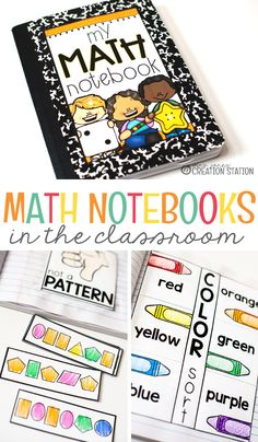 As a kindergarten and first grade teacher, I loved teaching math. Math notebooks were great tools that my students used to show off their learning. They are also great to use when having parent-teacher conferences. All your student work is in one place, and would be easy for parents to go through at a conference. Grab this Math Notebook cover here! Math Notebooks in the Classroom - Mrs. Jones' Creation Station #Math #Kindergarten #FirstGrade