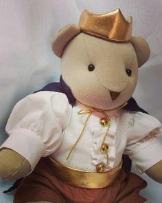 Urso principe Para decoração de quarto de bebê