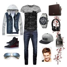 """""""4 My Man"""" by emerald-baker ❤ liked on Polyvore featuring Jack & Jones, Boohoo, Citizen, Mulberry, Beats by Dr. Dre, Ray-Ban, Vans, Valentino, Toni&Guy and men's fashion"""
