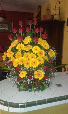 24 rosas y 24 gerberas!