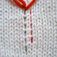 Weaving in ends tutorial. Duplicate stitch, vertically, diagonal for stockinette, garter, ribbed