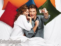 Stana Katic and Nathan Fillion {Kate Beckett and Richard Castle~Castle tv series actors}