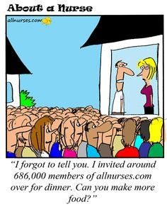 Cartoon: Would you throw an allnurses.com party?