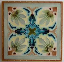 "Original English Art Nouveau tile from Mintons China Works c1905/8 6""x6"""