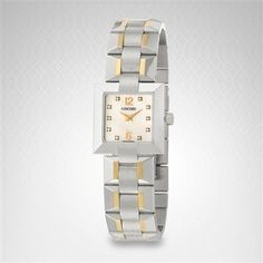 Concord La Scala Women's Watch in Stainless Steel Yellow Gold 0310137 Concord Watches, Square Watch, Stainless Steel, Gold, Women's Watches, Accessories, Yellow, Woman Watches, Jewelry Accessories
