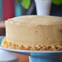 Bakeaholic Mama: Caden's Cake: Dark Chocolate Cake with Peanut Butter Buttercream Frosting