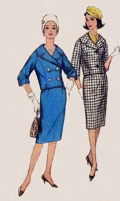 Vintage 60s Womens Suit Pattern  Simplicity by treazureddesignz, $7.95