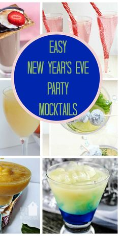 Easy New Year's Eve Party Mocktails