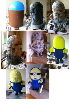 Piñata minion diy