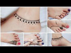 Mehndi Designs For Kids, Henna Tattoo Designs Simple, Floral Henna Designs, Mehndi Designs Feet, Mehndi Designs Book, Legs Mehndi Design, Mehndi Designs For Beginners, Mehndi Design Photos, Unique Mehndi Designs