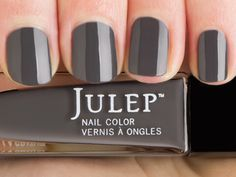 9 Julep Polish Colors That Work for Work - Expressive Workplace, Modern Interpretation: Daria (Bombshell, Dark Slate Crème)