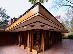 William P. Boswell House. 1961. Indian Hill, Cincinnati, Ohio. Usonian Style. Frank Lloyd Wright