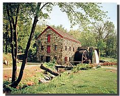 This cheerful wayside inn mill scene cottage scenery poster will bring a sense of warmth to any place in your home. This beautiful wall art will help to bring charm into your home. You'll surely enjoy by viewing this beautiful scene of natural beauty with this innovative nature poster. It would also make a great gift for nature lover. Hurry up and grab this wonderful wall poster for its durable quality and high degree of color accuracy.
