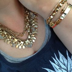 The Sutton necklace in Gold - can be worn 5 ways! www.stelladot.com/alicetegtmeier