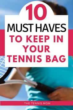 There are a few things that you will want to have in your tennis bag for matches, practice, or tennis tournaments. Make sure that you are prepared to play your best and have everything you need from snacks to shoes in your tennis bag. Tennis Bags, Tennis Gear, How To Play Tennis, Tennis Funny, Tennis Lessons, Tennis Equipment, Tennis Accessories, Tennis Quotes, Tennis Tournaments