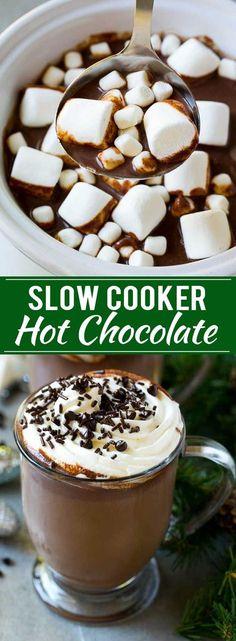 Slow Cooker Hot Chocolate Recipe | Homemade Hot Chocolate | Slow Cooker Hot Cocoa | Crock Pot Hot Chocolate