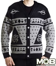 Ancient Alien Pyramid Knit Cardigan – Middle of Beyond $79.99