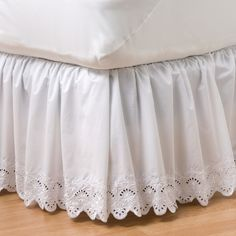 Complete your favorite bedding with this elegant Croft & Barrow eyelet bedskirt. Ruffle Bed Skirts, Ruffle Bedding, Linen Bedding, Bedding Sets, Girl Bedding, Dust Ruffle, Ruffles, Cama Box, Bed Linen Design