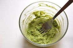 DIY Hair mask with avocado...I think I'd just get some chips and eat this LOL