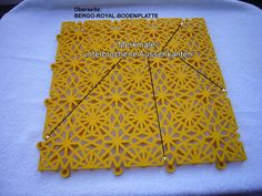 Garagenboden - Oberfläche der Bergo ROYAL Bodenfliese in gelb