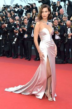 Bella Hadid Suffers Wardrobe Whoops as She and Emily Ratajkowski Hit Cannes Red Carpet in High-Slit Styles