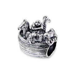 TJS-925-Sterling-Silver-Bead-Noah-039-s-Ark-Animals-Charm-European-Bracelet-Necklace