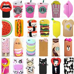 Cool Cute Fahion Sweet Food Soft Silicone Case For Apple Iphone Varions Cute Cases, Cute Phone Cases, Iphone 7 Plus Cases, Iphone Phone Cases, Food Phone Cases, Phone Cases Marble, Pokemon Fusion, Diy Phone Case Design, Silicone Phone Case