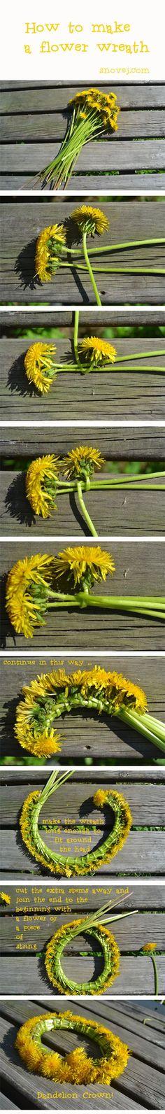 DIY Fresh Flower Heart Wreath is part of Diy flower crown - Diy Flower Crown, Flower Crowns, Diy Flowers, Flower Crown Drawing, Daisy Crown, Diy Crafts Hacks, Cute Crafts, Diys, Fleurs Diy