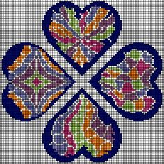 no color chart available, just use the pattern chart as your color guide. or choose your own colors Needlepoint Patterns, Counted Cross Stitch Patterns, Cross Stitch Designs, Embroidery Patterns, Cross Stitch Heart, Cross Stitch Flowers, Embroidery Hearts, Cross Stitch Embroidery, Broderie Bargello